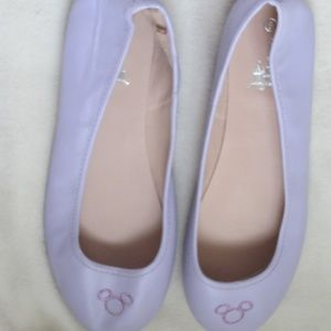 Disney's Mickey Mouse Purple Flats Ballet Shoes